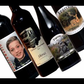 Vine med egne etiketter